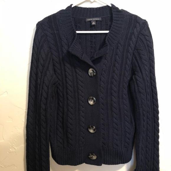 f54fb845b9b Banana Republic Dark Blue Button Up Sweater
